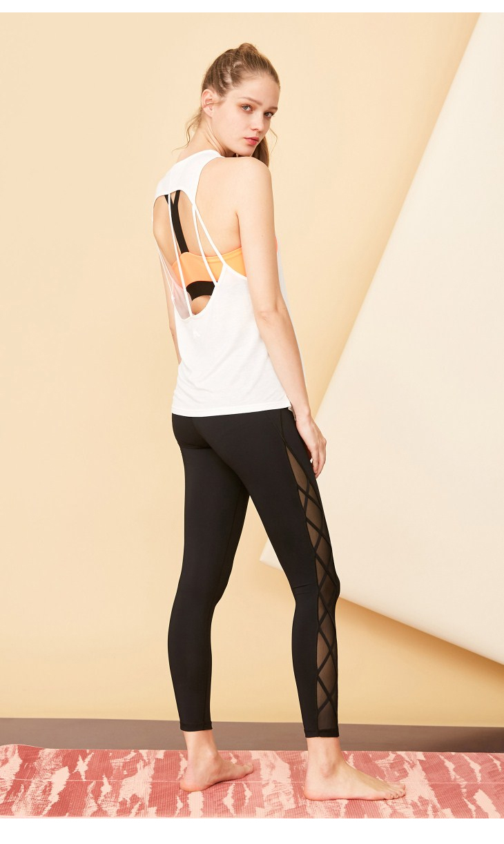 ONLY PLAY Letter Print Backless Singlet | 118103506 8