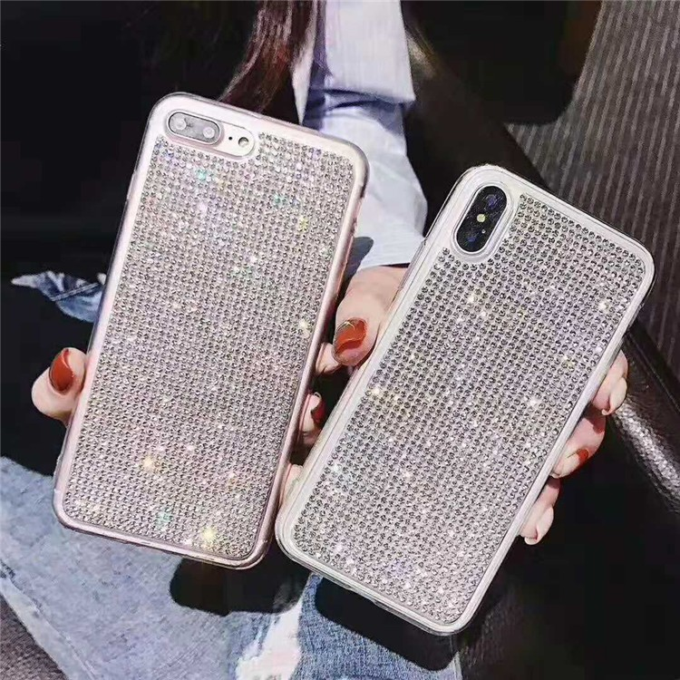 Shiny Big Diamonds Luxury Beautiful Fashion Shell Cover Phone Protective Case for iPhone 6 6s 6P 6sP 7 7P 8 8P X XS XR XSMAX