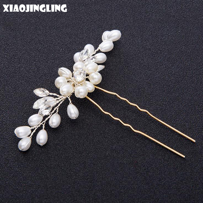 Jewelry & Watches Persevering Lux Bridal Floral Crystal Pave Leaf Hair Comb Fashion Jewelry