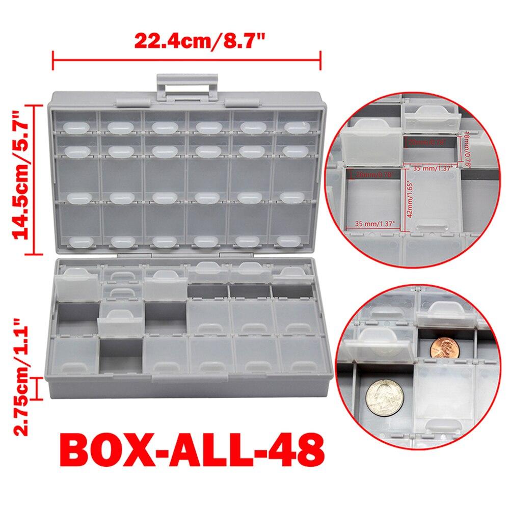 AideTek 2 корпуса поверхностного монтажа резистор конденсатор Электроника хранения ящики и органайзеры 0805 0603 пластиковые инструменты коробка 2 коробки