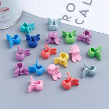 20pcs Small Crab Hair Clips Clamp Children Baby Barrette Color Crown Flower Rabbit Jaw Hair Accessories Clip Pins Girls Hairpin(China)