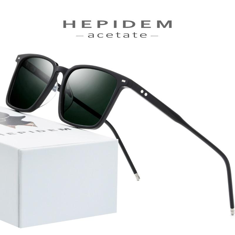 High Density Acetate Polarized Sunglasses Men 2019 New Fashion Women Brand Designer Sunglass Korean Square Sun Glasses For Men