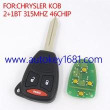 2 + 1 кнопка 315 KOB мГц дистанционного ключа для chrysler ключи от машины