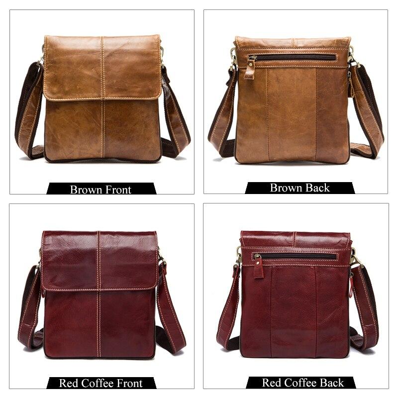 MVA Messenger Bag Mannen Schoudertas Echt leer Kleine mannen - Handtassen - Foto 3