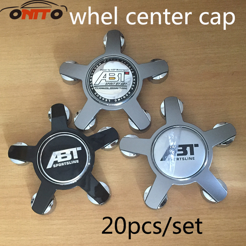 Hot Sale 20PC 135mm ABT SPORTSLINE Car Wheel Centre Hub Caps Emblem for Audi 135mm Car Wheel Caps