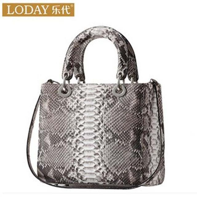 d621f87d84b ledai Fashion imported python skin leather women handbag 2018 new style  ladies handbag snake skin bag