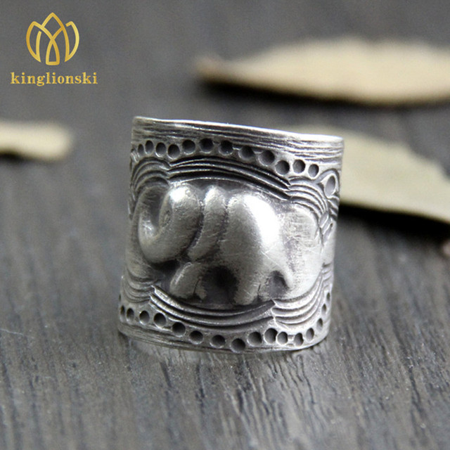 52c97e126 Wholesale Thailand Chiang Mai silver handmade silver small ring to do the  old retro index finger ring (USA size)