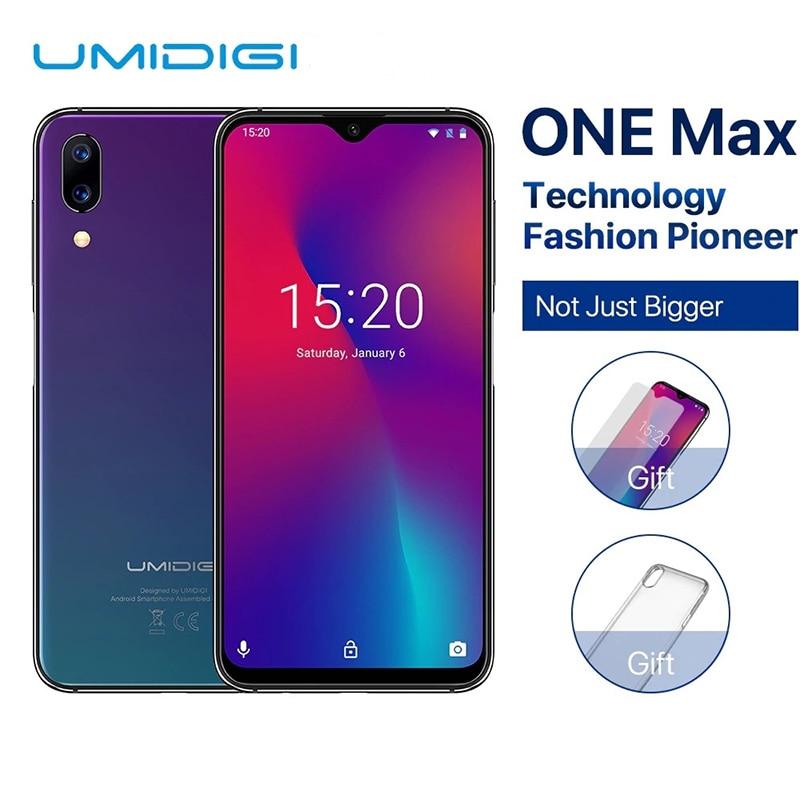 "UMIDIGI One Max Global Version 4GB 128GB 6.3"" Waterdrop Full Screen 4150mah Dual SIM Face ID Smartphone NFC Wireless Charging"