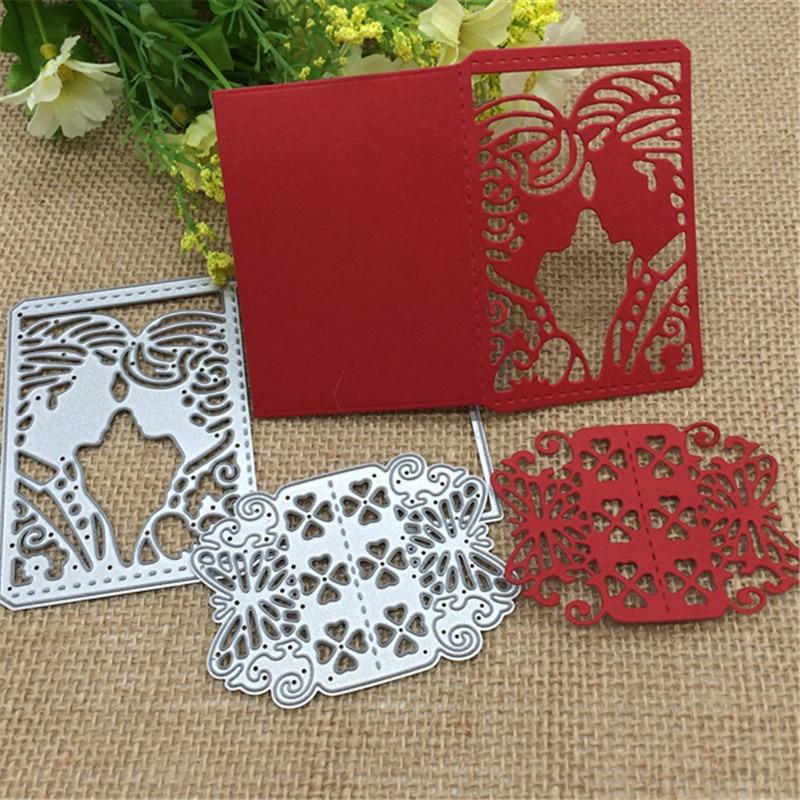 2PCS Snowflake DIY Cutting Dies Stencil Scrapbooking Paper Card Embossing Decor