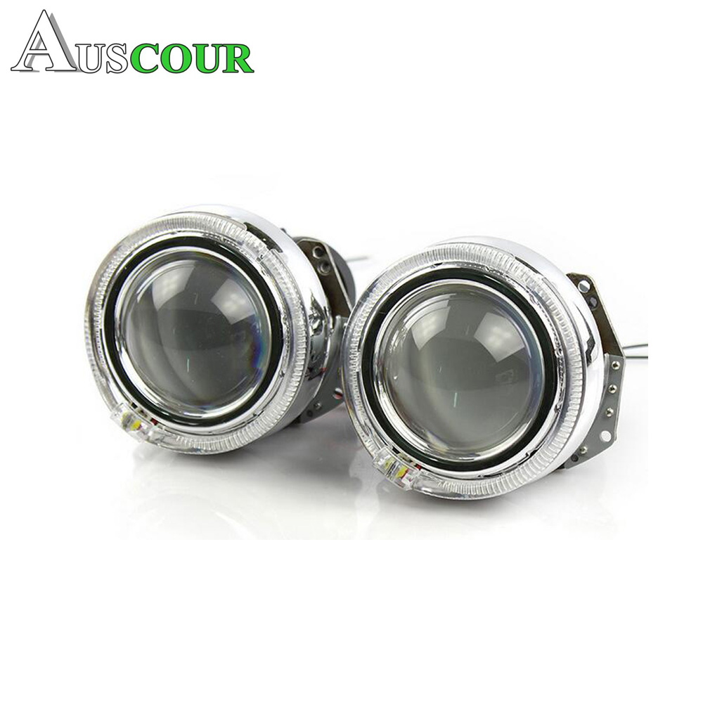 3.0inch car styling hid bixenon projector lens hella 5 led day running DRL angel eyes mask xenon kit D1S D2S D3S D4S LHD type