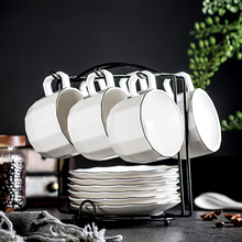 Yolife Brand European Style Ceramic Tea Cup and Saucer Set Chinese Coffee Cup Set Afternoon Porcelain Black Tea cup
