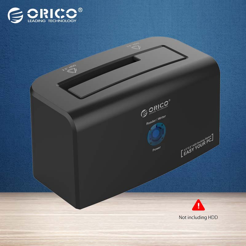 ORICO Docking Station 2.5 inch & 3.5 inch SATA & USB 3.0 Hard Drive Docking for 3.5 HDD 12V2.5A Power Adapter