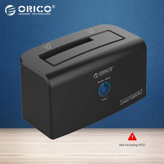 "ORICO Docking Station 2.5 inch & 3.5 inch SATA & USB 3.0 Hard Drive Docking for 3.5"" HDD 12V2.5A Power Adapter"