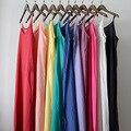 Serenamente vestidos 2017 summer dress solid multicolor algodón de seda natural de resbalones vestidos más del tamaño sexy slip s200