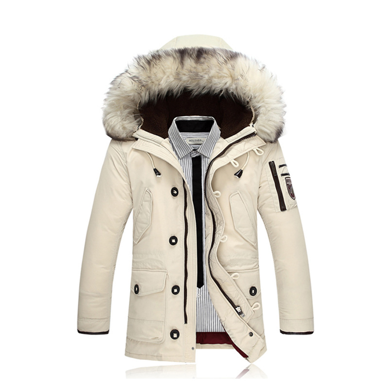The new 2017 men down jacket Pure color Wool heavy hair thickening of cultivate one's morality Warm down jacket цены онлайн