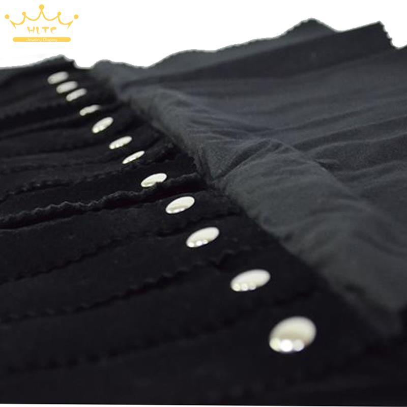 Wholesale Jewelry Roll Bag Earrings Storage Bag Underwear Pounch For Earring Box Studs Black Velvet