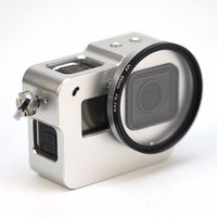 TUOWEI Aluminum Alloy With Back Door 52mm UV Lens Cage Protective Housing Case Cover Metal Frame