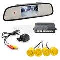 DIYKIT 5 Inch Rear View Mirror Car Monitor Kit + Video Parking Radar + IR Night Vision Rear View Car Camera Parking Assistance