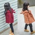 2016 nuevo abrigo de invierno abajo para las niñas chaqueta de algodón acolchado abrigo de lana niña abrigo de lana ropa de niños BC-SY104