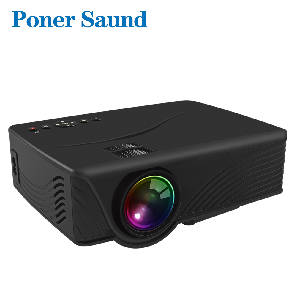 Poner Saund Full Hd New Mini Projector Proyector Led Lcd: Poner Saund LED GP10 Mini Projector For Home Theater