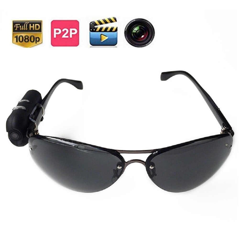 HD 1080 P Солнцезащитные очки камера цифровой аудио видео мини DVR Солнцезащитные очки умные очки с камерой Mini DV для вождения автомобиля спорта