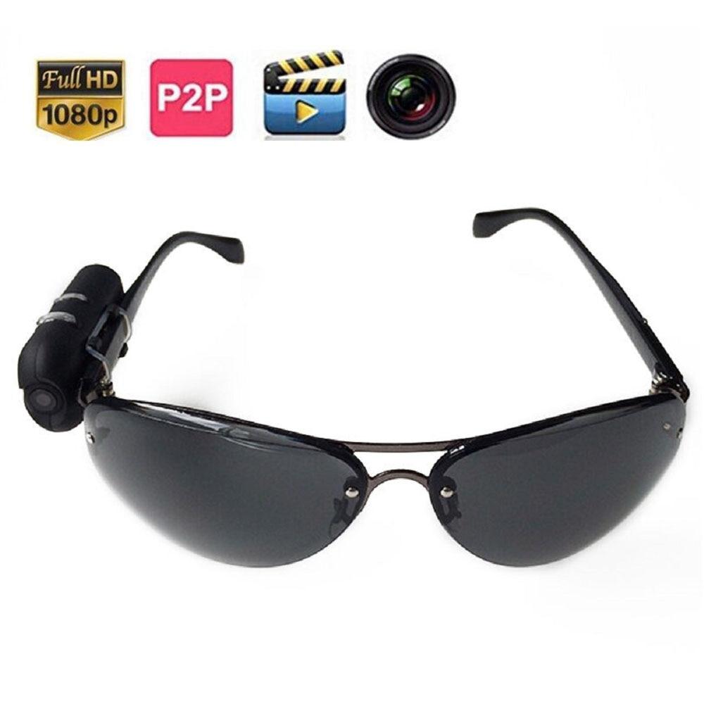 HD 1080P Sunglasses Camera Digital Audio Video Mini DVR Sunglasses Smart Glasses With Camera Mini DV For Car Driving Sports