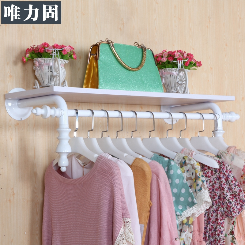 Hang Clothes On Wall weili solid clothing store decoration clothing store display racks