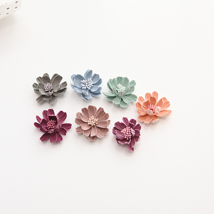 35mm velvet fabric flower headwear