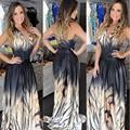 # Robe longue femme Partido Maxi vestido mulheres sexy profunda Halter backless da cópia do tigre padrão vestidos túnica festa de verão maxi vestidos