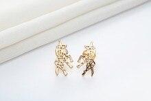 Women's Origami Unicorn Stud Earrings