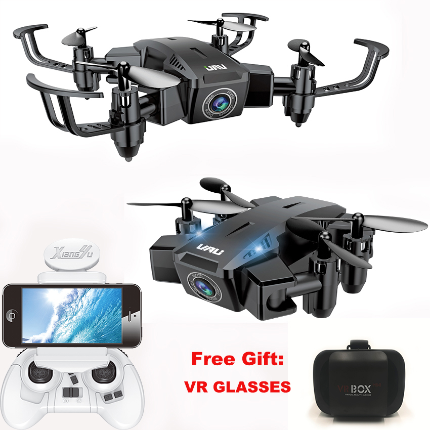 Foldable Mini Drone RC Quadcopter 720P1080P FPV HD Camera Altitude Hold One Key Return Pocket Dron Aircraft Gift VR Glasses Квадрокоптер