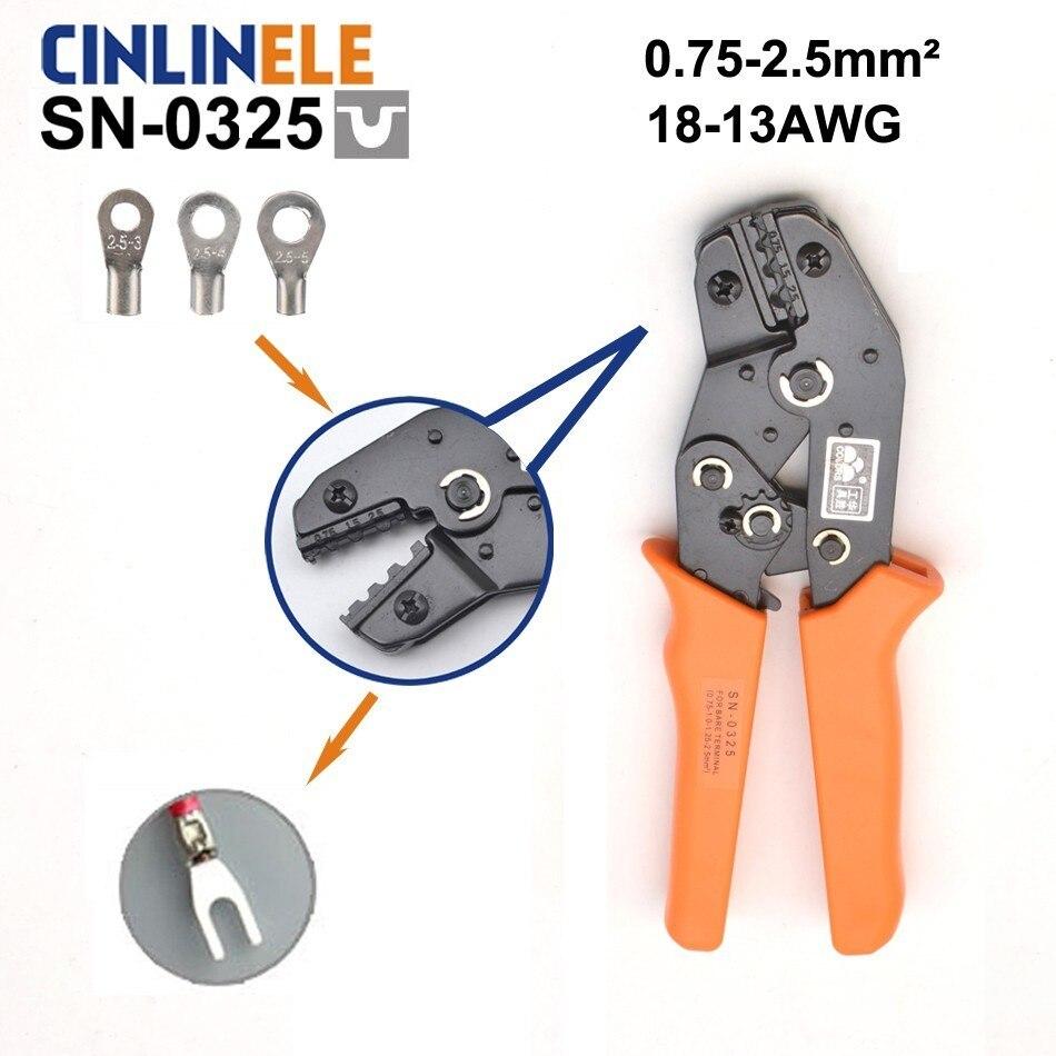 Werkzeuge Zangen Nachdenklich Freies Verschiffen Sn-0325 0,75-2,5mm 18-13awg Mini Art Selbst Einstellbare Crimpen Hand Zangen Elektrische Draht Terminals Crimper Werkzeuge