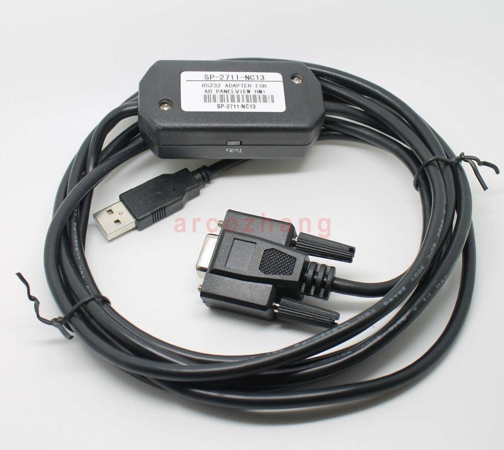 USB-2711-NC13, Interfaccia RS232, PanelView macchina cavo di programmazione