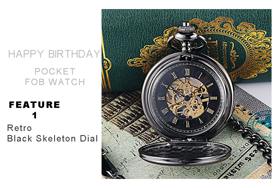 happy birthday mechanical pocket watch 950PX-2