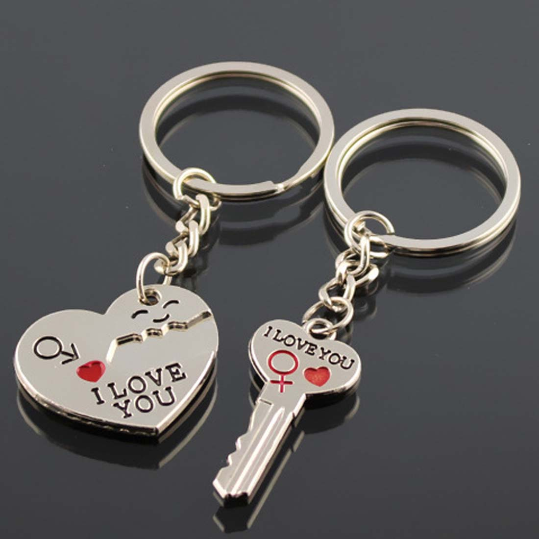 1 Pair Key Rings Key Chains Heart Keychain Man Women Gift Keyring Wedding  Favors Gifts Wedding Souvenirs Wedding Supplies -in Event   Party from Home  ... 39478a0c70