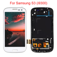 4.8 LCD For Samsung Galaxy S3 III i9300 i9300i i9301 i9301i i9305 Display Touch Screen Digitizer Assembly Replace with Frame