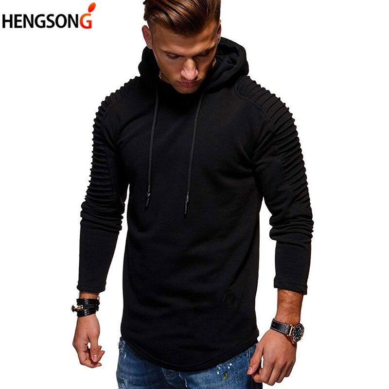 New Men Hoodies 2018 Male Sweatshirt Teenage Casual Pullover Hoodies Autumn Outweat Slim Solid Sweatshirt Men Hoodies