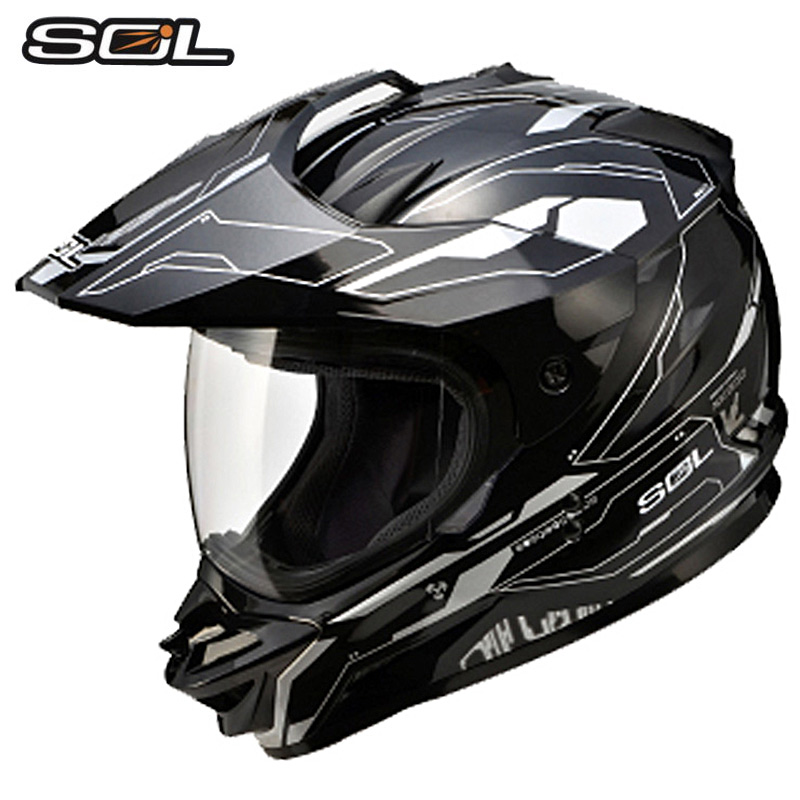 VCOROS off road motorcycle helmet for sol ss-1 speed motocross helmet cross country ATV racing DOT moto helmets size M L XL XXL