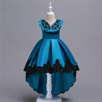 Baby Girl Party Wedding Dress Toddler Formal Dresses Lace Crystal Sleeveless Princess Flower Dance Dress Teenager Prom Designs