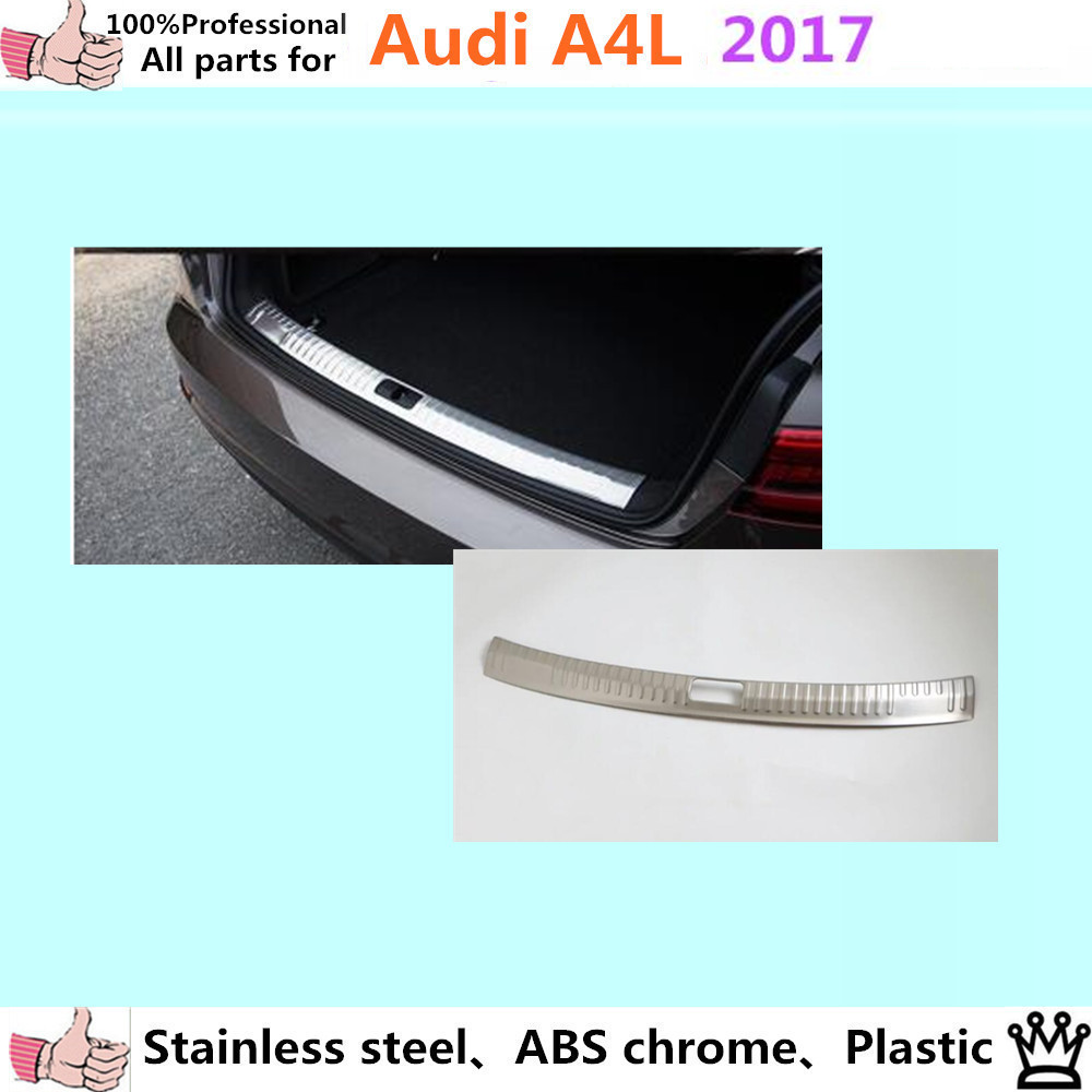 Car body styling cover Stainless Steel Inner built Rear Bumper trim plate lamp frame pedal moulding 1pcs for VW Aud1 A4L 2017 car styling cover detector stainless steel inner built rear bumper protector trim plate pedal 1pcs for su6aru outback 2015
