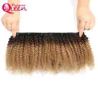 Ombre 1b 4 27 Color Afro Kinky Curly Human Hair Clip In Hair Extensions 8 Pieces And 120g /set Remy Hair Clip In Extensions