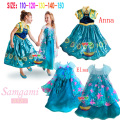 Free shipping Wholesale 2017 baby girl clothes elsa dress Elsa Anna Movie Cosplay Costume Kids Girls Dresses Elsa Princess Dress