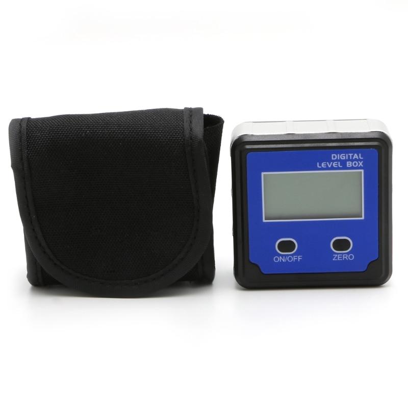 Digital Protractor Inclinometer Level Box Angle Finder Bevel Box w/Magnet Base lixf dxl360s digital lcd protractor inclinometer single dual axis level box 0 01 degree