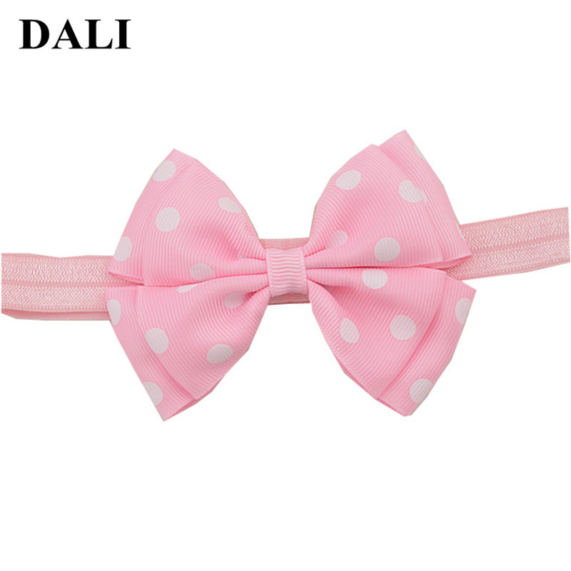 где купить Baby Girls Hair Bows Headbands Toddler Bow Pink Kids Elastic Hair Bands Children Hair Accessories Infant Headband For Baby по лучшей цене