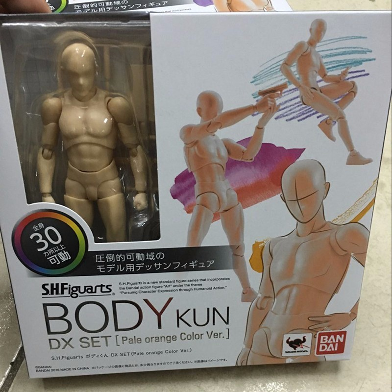 6 Types Body KUN Body Chan SHFiguarts PVC Action Figure DX SET Figma He She Solid Black Pale Orange Gray Ver In Box  (11)
