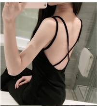 Summer as outerwear Summer 2017 Sexy Women Padded Bra Tops Camisole Straps Push Up Bra Vest Backless Tank AB072