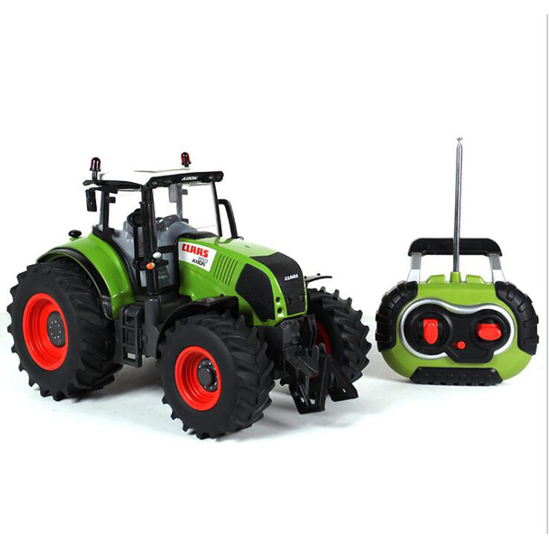 Hot remote control car 1:16 simulation large wireles remote control tractor farm tractor with light radio controlled tractor toy kingtoy detachable remote control big size multifuncional rc farm trailer tractor truck toy