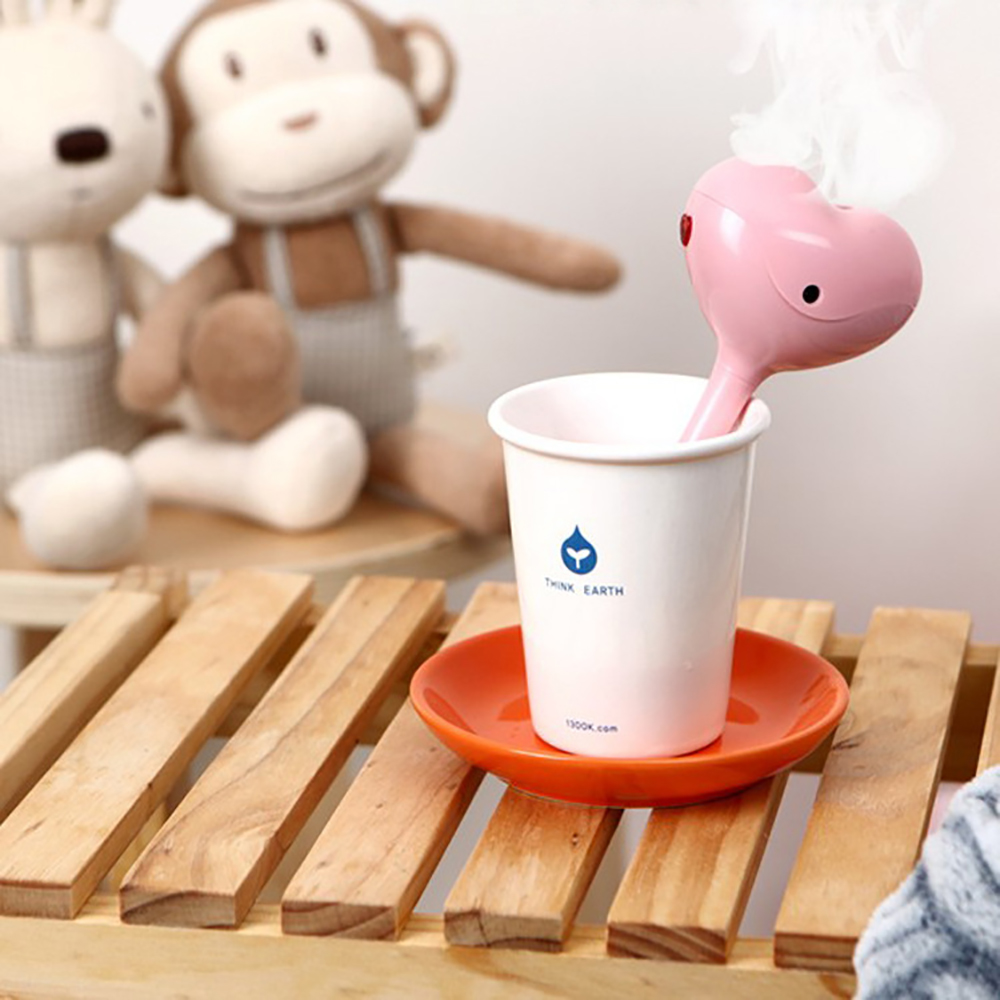 Creative Mini Sweet heart Design USB Air Humidifier Ultrasonic Cute Cartoon Essential Oil Aroma Diffuser Home Office Mist Maker cute mini whale design usb portable air humidifier ultrasonic cartoon essential oil aroma diffuser home office mist maker fogger