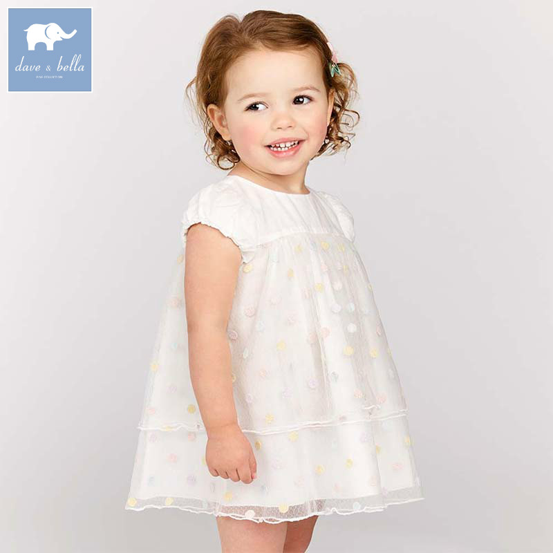 Dave bella lovely little baby girls dresses infant toddler dots clothes children birthday party high quality costumes DBJ7623Dave bella lovely little baby girls dresses infant toddler dots clothes children birthday party high quality costumes DBJ7623