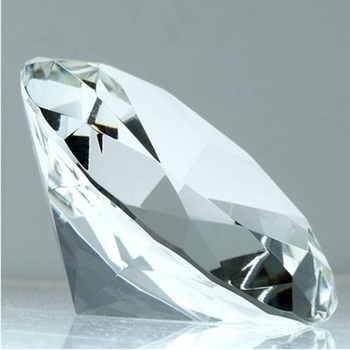 Free Shipping 200mm Handmade Diamond Shaped Crystal Glass Art Collection Folk Crystal Gifts